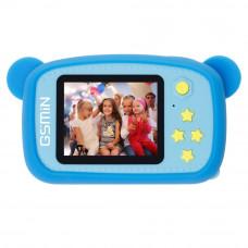 Детский цифровой фотоаппарат с играми GSMIN Fun Camera Bear, цвет синий (BT570207)