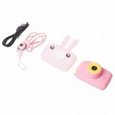 Фотоаппарат детский в виде животных розовый заяц