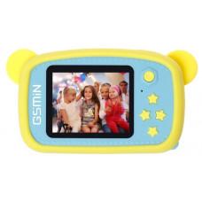 Детская цифровая камера GSMIN Fun Camera Bear с играми (Желто-голубой)