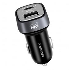 Автомобильный блок питания Momax Elite Type-C Car Charger 5V/5.4A 2USB (UC4T) Black