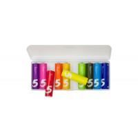 Батарейки алкалиновые Xiaomi (Mi) ZMI Colors Rainbow ZI5 типа AA (уп.10 шт.) (AA501)