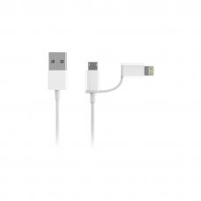 Кабель 2in1 USB Lightning/Micro Xiaomi ZMI MFi 100 см (AL801)